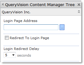 QueryVision Login Page Address Properties