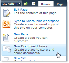 Create New Document Library in SharePoint